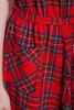 plaid pocket dress red tartan wool belted sleeveless midi vintage 70s MEDIUM LARGE M L