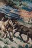 tapestry vest equestrian horse show desert cactus wild west brown vintage 90s MEDIUM M