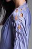 plus size maxi dress cutout soutache leaf eyelet slinky soft draped purple knit vintage 70s XL 1X