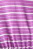 t shirt dress casual comfort v neck purple white stripes vintage 80s SMALL MEDIUM S M