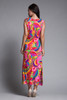 Hawaiian maxi dress pink paisley print sleeveless vintage 70s SMALL XS S