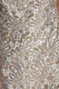 gold maxi dress metallic evening gown formal beaded a-line vintage 70s MEDIUM M