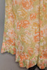 floral maxi dress short doll sleeves empire waist yellow orange vintage 70s SMALL S