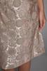 evening shift dress jacquard matallic pale pink sage green sleeveless vintage 60s MEDIUM M
