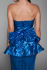 lurex metallic dress strapless sweetheart party ruffled peplum vintage 80s SMALL S
