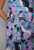 halter mini dress psychedelic floral print bow open back vintage 60s MEDIUM M