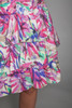 pink sweetheart cotton party tier dress strapless ruched vintage 80s SMALL MEDIUM S M