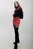 animal print mini skirt faux snake skin leather red (S M L)
