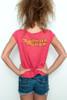 "Used Junk Food T shirt 50/50 Tee Wonder Woman RED XL (18"" width)"
