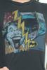 "Junk Food loves GAP KIDS T shirt 50/50 Batman Joker Yellow Lightning Dark Gray S 6-7 (17"" width)"
