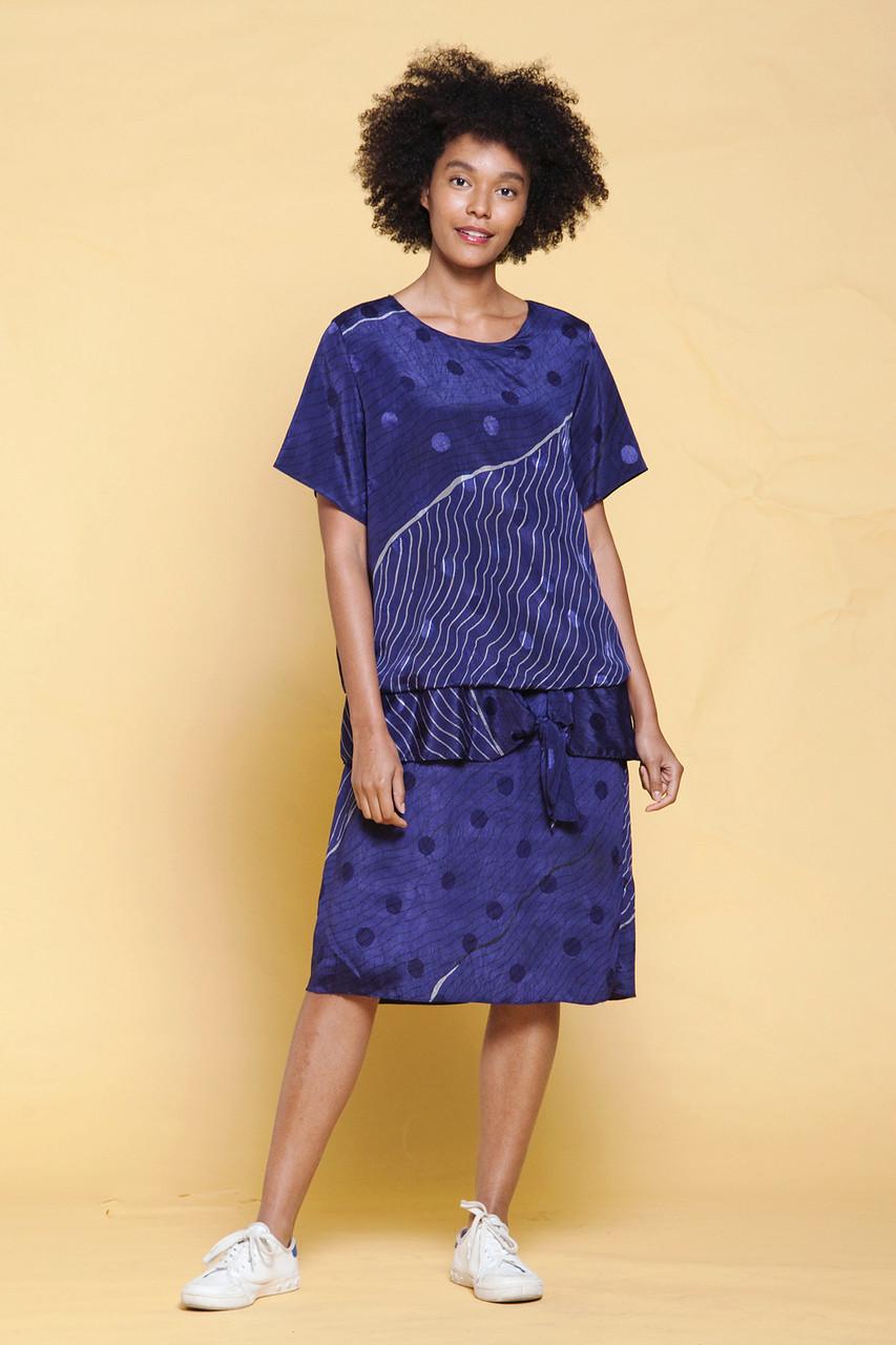 plus size vintage drop waist dress blousy bow front short sleeves ...