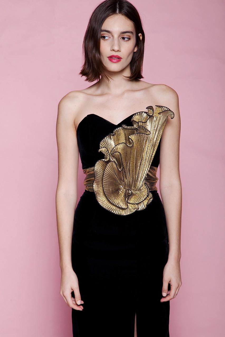 Metallic Evening Gowns