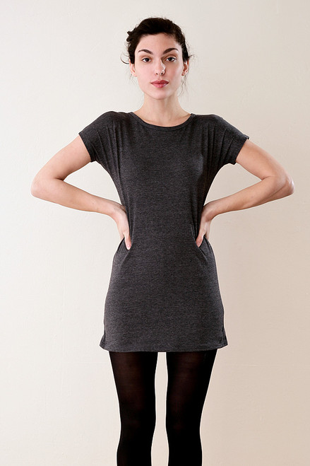 Gray Long Tee Shirt Mini Dress M