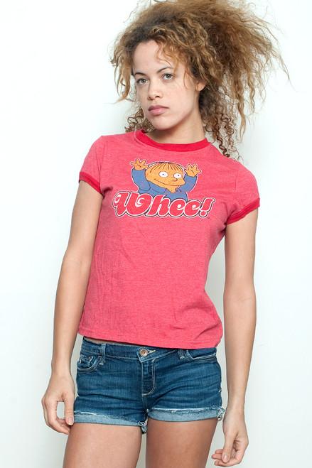 "Junk Food T shirt The Simpson's I'm A Pop Sensation Red Ringer XL (19"" width)"