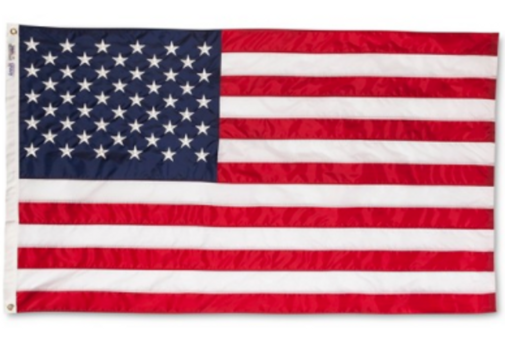 3' x 5' Embroderied American Flag