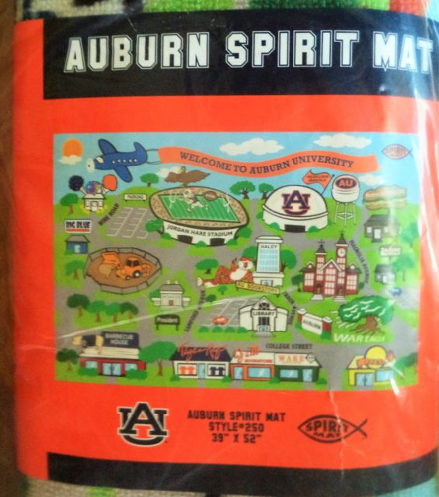 "Auburn University Spirit Mat 39"" x 52"""
