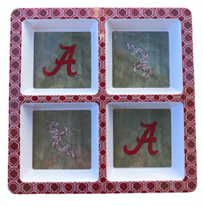 Alabama 4-Section Serving Tray