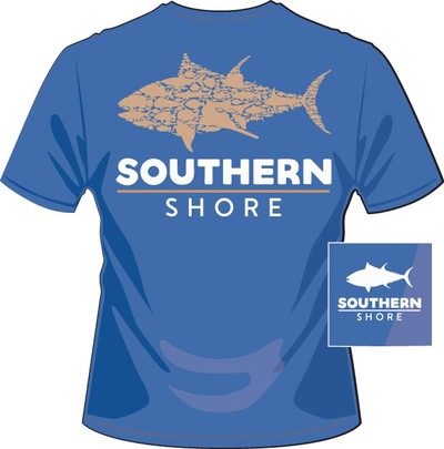 Southern Shore School of Fish Mid Blue SS