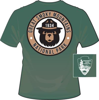 "Great Smoky Mountains National Park ""Smokey"" Bear Green"