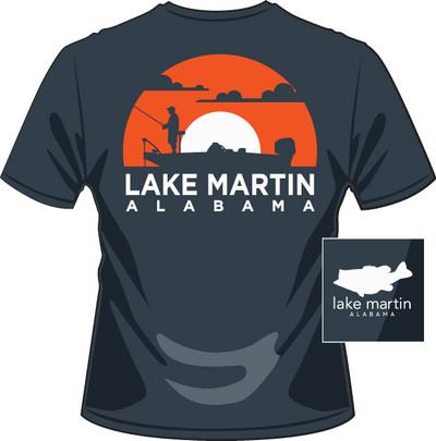 Lake Martin Fishing Sunset Navy