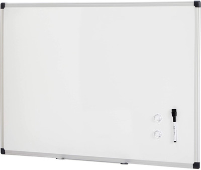 "AmazonBasics Magnetic Framed Dry Erase White Board, 24"" x 36"""