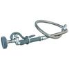 "T&S Brass B-0100 Spray Valve W/44"" Flexible Stainless Steel Hose"