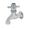 "T&S Brass B-0706 Sill Faucet Self-Closing 1/2"" NPT Female Inlet 4-Arm Plain"