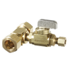 Dahl E33-2211, 5/8 OD Comp X 5/8 OD Comp X 1/4 OD Comp. Lead free.