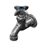 "T&S Brass B-0700 Sill Faucet 1/2"" NPT Female Inlet 4-Arm Plain Outlet"