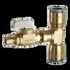 Dahl EQG3-2211, 1/2 QUICK-GRIP™ X 1/2 QUICK-GRIP™ X 1/4 OD Comp. Lead free.