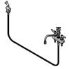 "T&S Brass B-1151 Workboard Faucet 4"" Deck 8"" Swing Nozzle W/Diverter Hose Spray Valve"