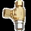 Dahl E41-31-31, 3/8 OD Fem. Comp X 3/8 OD Comp X 3/8 OD Comp. Lead free.