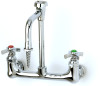 T&S Brass BL-5725-08 Lab Mixing Faucet Wall Mount S/R Vacuum Breaker Nozzle Serrated Tip