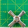American Standard 9165-0230 Hot Cross Handle Chrome