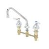 "T&S Brass B-2855 Lavatory Faucet 8"" Center Concealed Lever Handle 9"" Swing Nozzle"