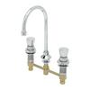 "T&S Brass B-2820 Metering Faucet 8"" Deck Rigid Gooseneck 2.2 GPM Aerator"