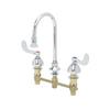 "T&S Brass B-2865-04 Medical Faucet 8"" Center Deck Rigid/Swivel Gooseneck"