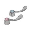 Gerber 98-879 Wrist Blade Handles W/Screws & Buttons Chrome (Pair)