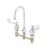 T&S Brass B-2867-04 Medical Faucet Deck Mount Concealed Rigid/Swivel Gooseneck