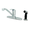 "T&S Brass B-2730 Single Lever Faucet 48"" Sidespray 9"" Spout 10"" Deck"
