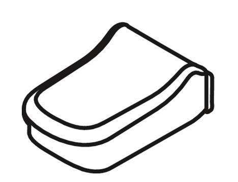 Kohler 1100507-NY Toilet Hinge Cover Dune