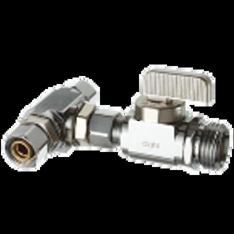 Dahl E41-2421, 3/8 OD Fem. Comp X 3/8 OD Comp less nut & sleeve X 1/2 NPSM. Lead free.