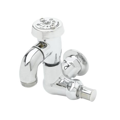 "T&S Brass B-0720 Sill Faucet 1/2"" NPT Female Flanged Inlet Vacuum Breaker"