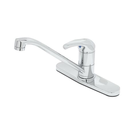 """T&S Brass B-2731 Single Lever Faucet 9"""" Spout Swivel Base Flex Supplies 10"""" Deck"""