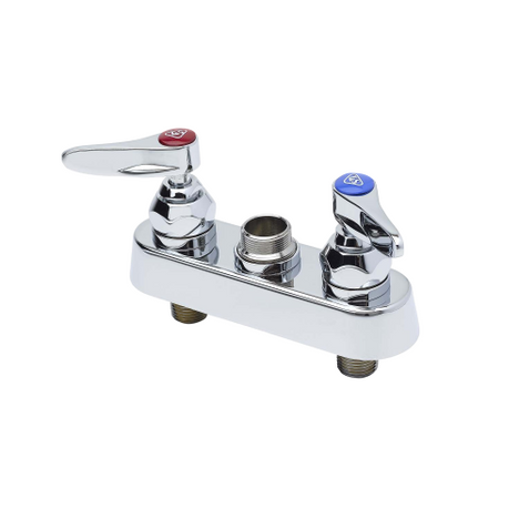 "T&S Brass B-1110-LN Workboard Faucet 4"" Deck Lever Handles Less Nozzle"