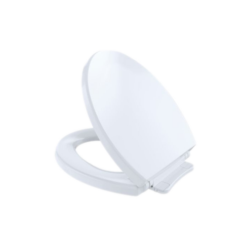 TOTO SS113#01 Soft-Close Closed Front Round Toilet Seat Cotton