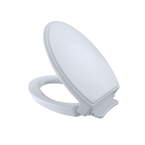 TOTO SS154#01 Soft-Close Traditional Closed Front Elongated Toilet Seat Cotton
