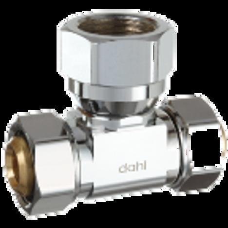 Dahl E33-33-53-PL, 5/8 OD Comp X 5/8 OD Comp X 1/2 FIP. Lead free.