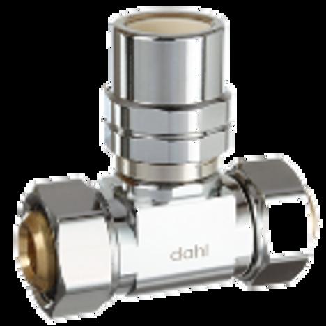Dahl E43-43-46-PL, 5/8 OD Fem. Comp X 5/8 OD Fem. Comp X 1/2 Fem. CPVC. Lead free.