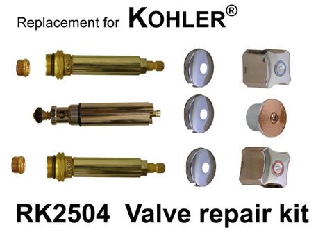 For Kohler RK2504 3 Valve Rebuild Kit
